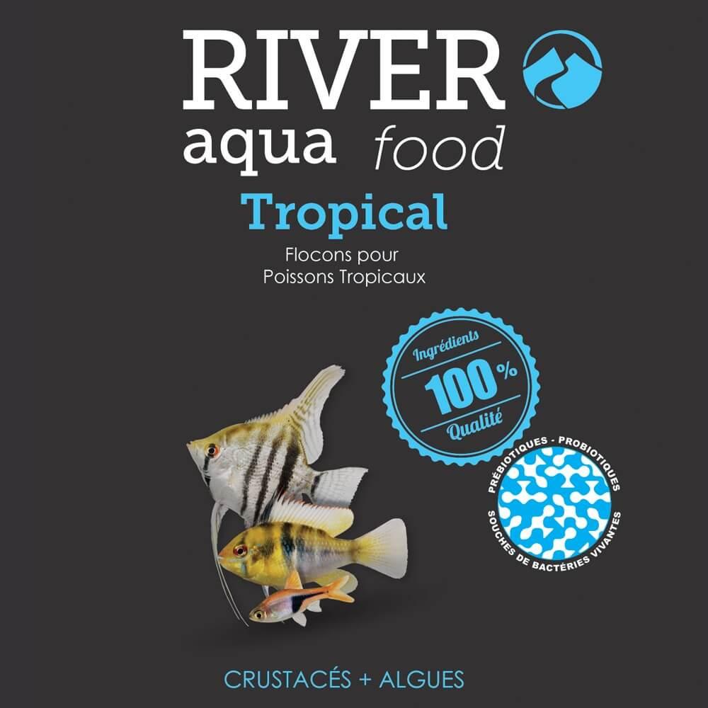 River Aqua Food Tropical : les flocons de qualité Premium pour le bien être de vos poissons!