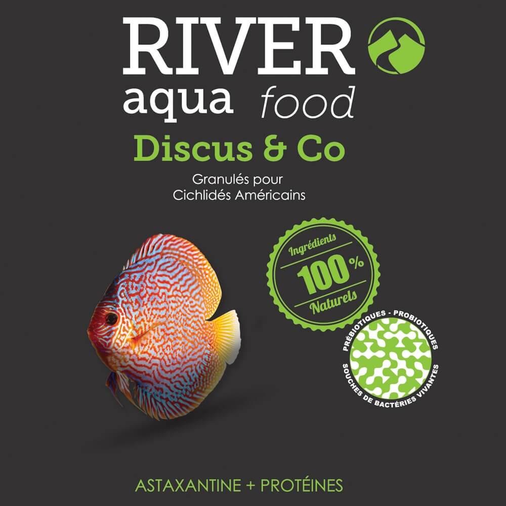 Aliment en granulés très digeste et riche en astaxanthine pour poissons difficiles tels que les Discus (Symphysodon sp), Scalaires, Apistogramma, et autres cichlidés américains de taille moyenne.