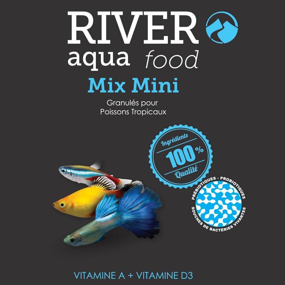 Aliment en granulés, riche en vitamines, pour la plupart des petits poissons tropicaux (1 à 5cm).