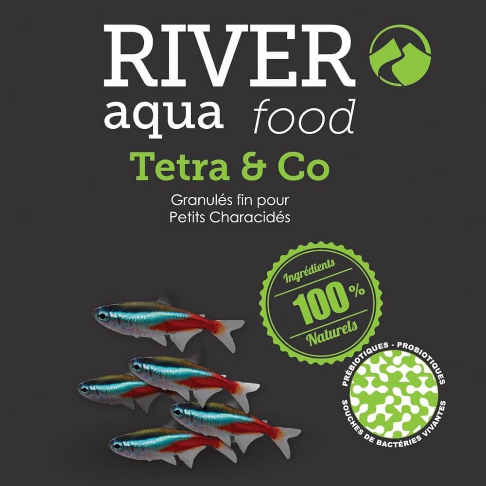 Aliment en granulés extra fin conçu pour l'alimentation des petits poissons exotiques d'eau douce (characidés, rasbora, microrasbora, etc...).