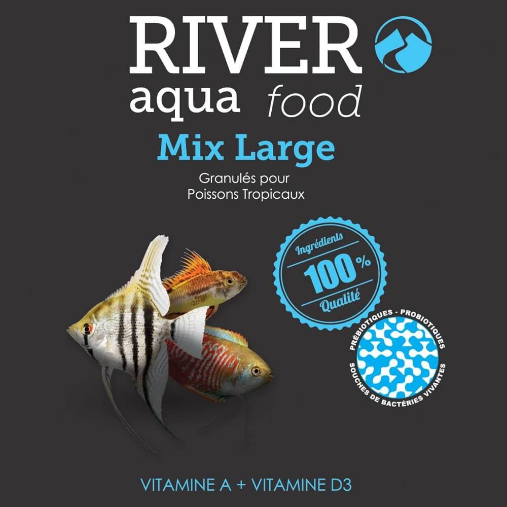 Aliment en granulés, riche en vitamines, pour la plupart des grands poissons tropicaux (+ de 5cm).