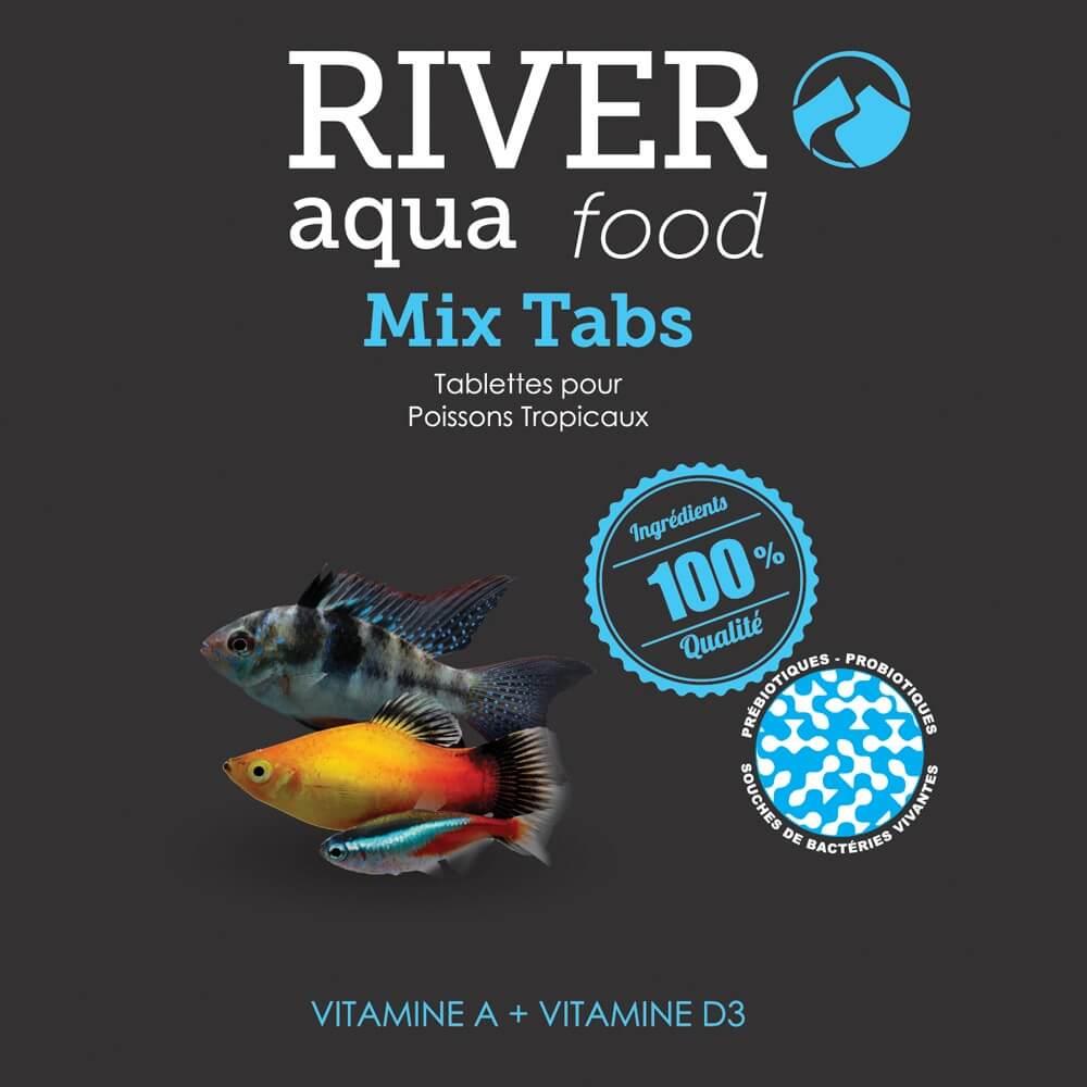 Aliment en tablettes coulantes, riche en vitamines pour la plupart des poissons exotiques.