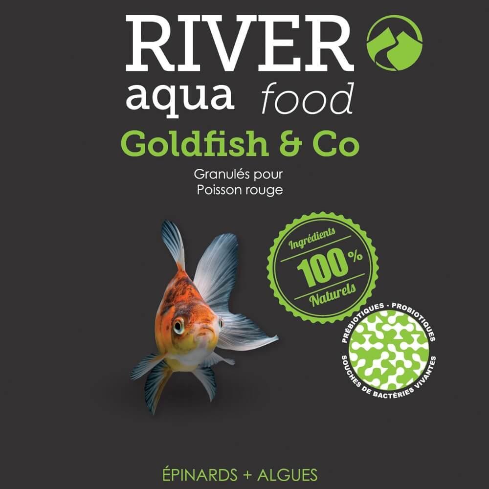 Aliment en granulés très digeste spécialement adapté pour l'alimentation des poissons d'eau froide jusqu'à 20cm.