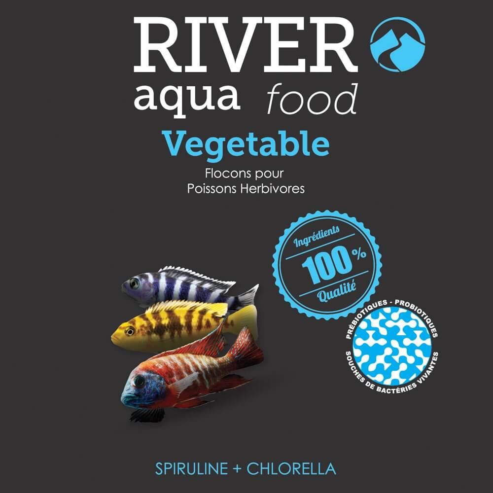 Nourriture en flocons pour cichlidés herbivores comme les cichlidés du lac Malawi ou du Tanganjika.