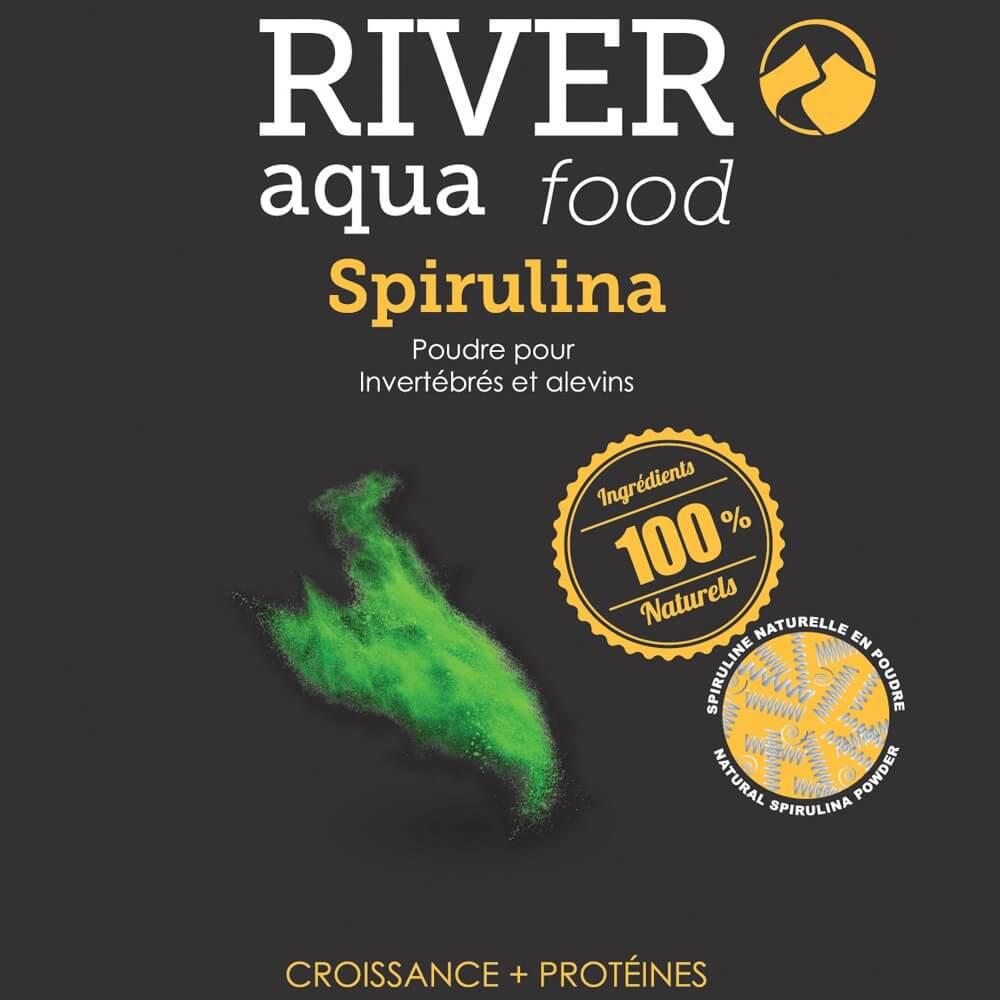 La spiruline en poudre est utilisée pour nourrir les invertébrés (crevettes, écrevisses, etc...), les alevins aux premiers stades de leur développement ou en tant que complément alimentaire pour tous les poissons exotiques