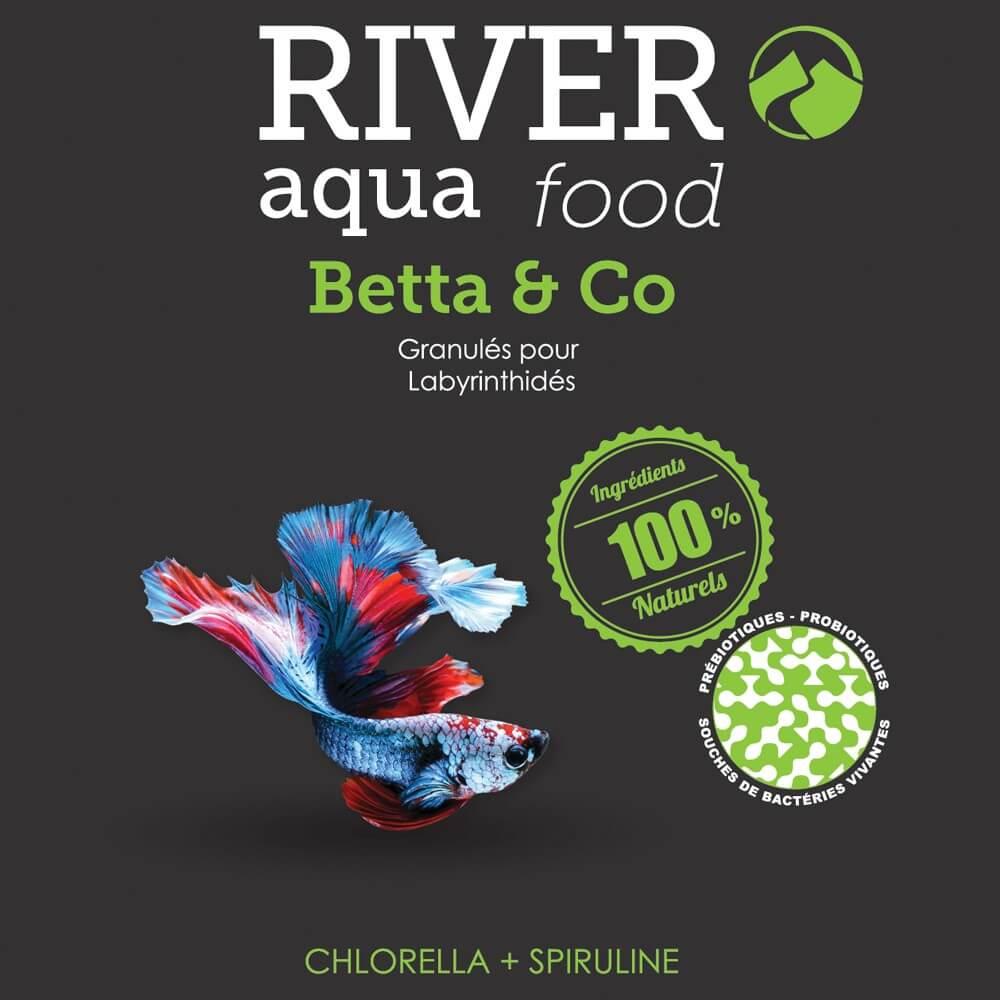Aliment en granulés très digeste spécialement adapté pour l'alimentation du Betta splendens et des autres labyrinthidés.